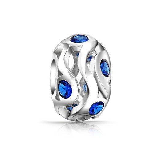 Bling Jewelry Blue Sapphire CZ September Birthstone 925 Sterling Silver Bead Bling Jewelry. $16.99. .925 Sterling Silver. Sapphire colored cz Stones. September Birthstone Bead. Wave Bead. Compatible with Pandora, Biagi, Chamilia and Troll beads