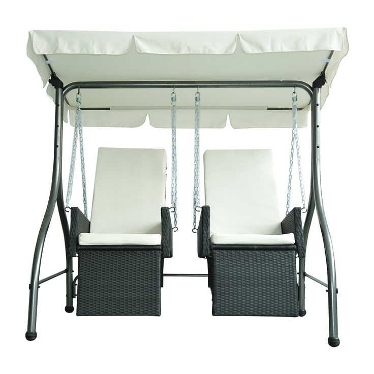 Outsunny Luxury Heavy Duty Patio Swing Chair 2 Separated