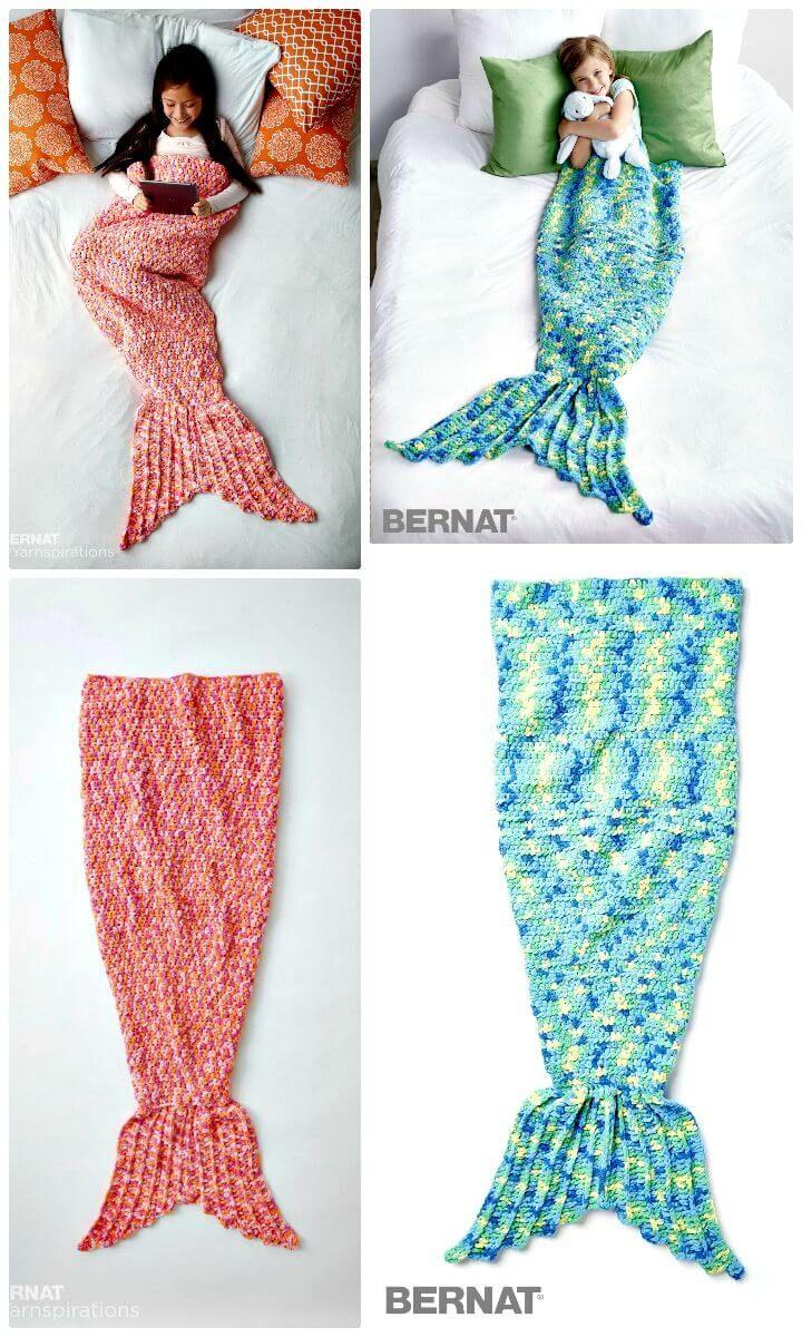 Crochet Mermaid Tail Patterns - 30 Free Crochet Patterns | Manta y ...