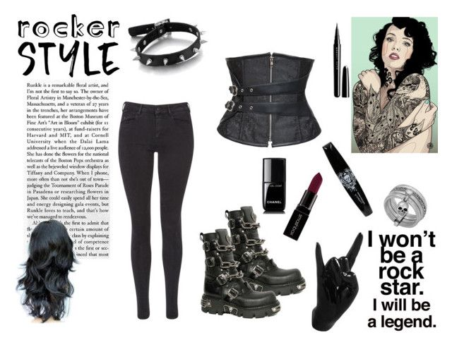 Rocker style by nefertiti001 on Polyvore featuring Maison Scotch, Lucky Brand, Smashbox, Marc Jacobs, Chanel, Thelermont Hupton, Reactor, Behance, rockerchic and rockerstyle