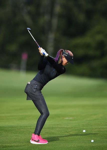 LPGA — Michelle Wie on day two of the Evian Championship