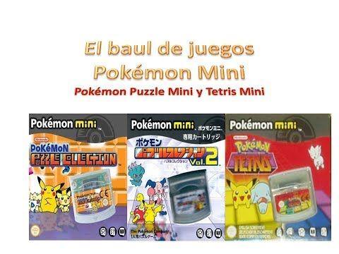 Pokémon Puzzle y Tetris Mini. El baúl de juegos Pokémon Mini