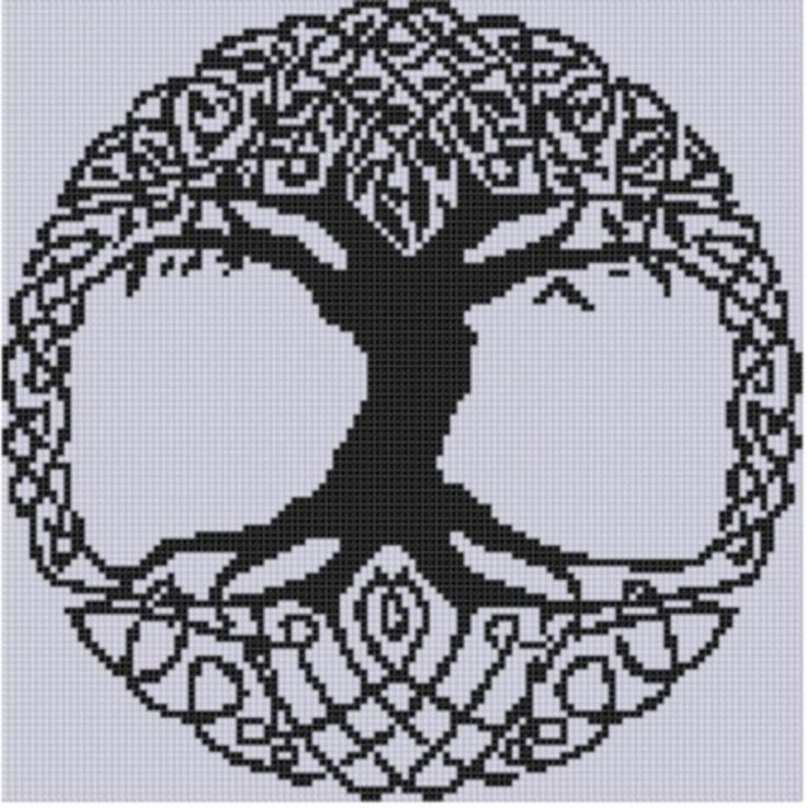 (10) Name: 'Embroidery : Celtic Tree Cross Stitch Pattern