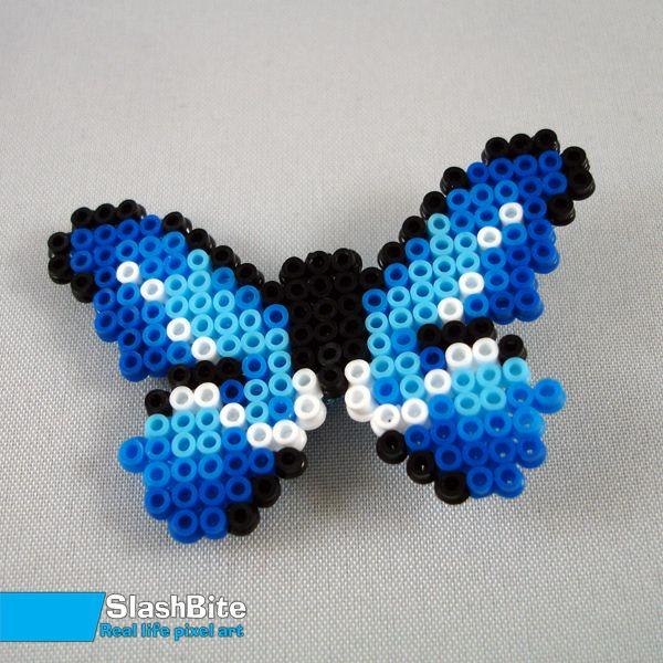 Hairpin Blue butterfly by SlashBite