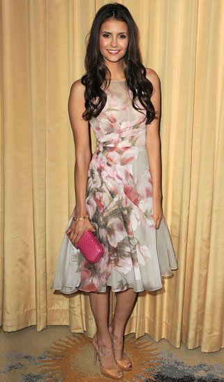 Nina Dobrev--My favorite dress she's worn thus far.