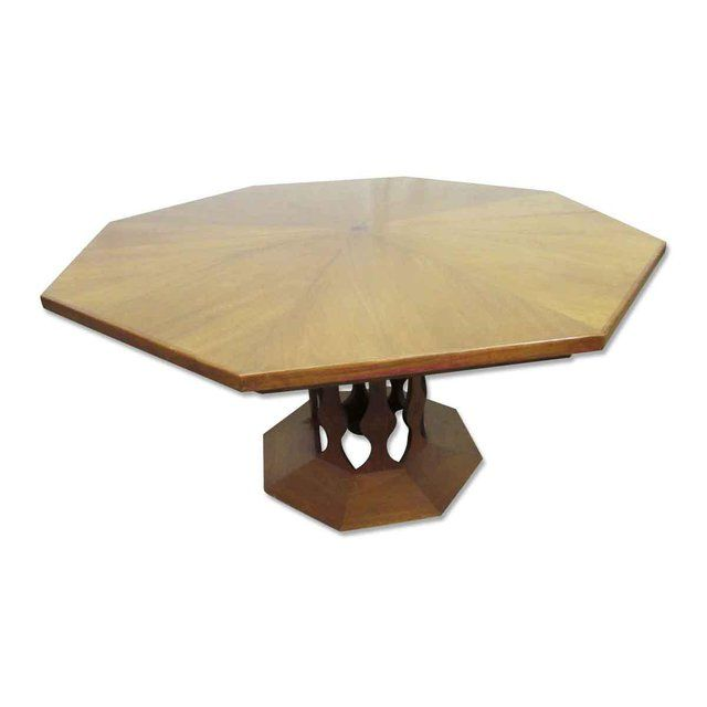 Octagon Shaped Pedestal Dining Room Table Dining Room Table Table Dining