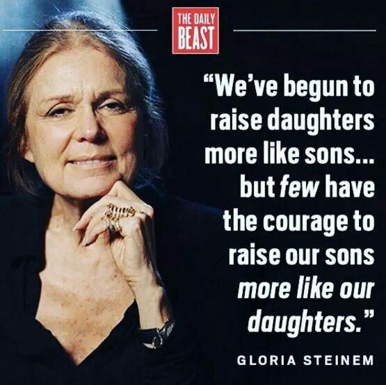 Gloria Steinem on parenting.