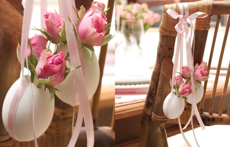 Invista em alguns detalhes para a sua decoração de páscoa! Não se prenda somente ao decor da mesa, dê atenção também as cadeiras….olha o charme!!!