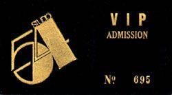 Studio 54 VIP ticket