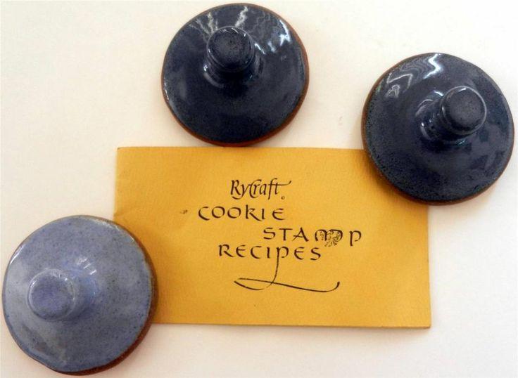 RyCraft Scandinavian Cookie Stamps Recipe Booklet Set of 3 Heart Wreath Pumpkin