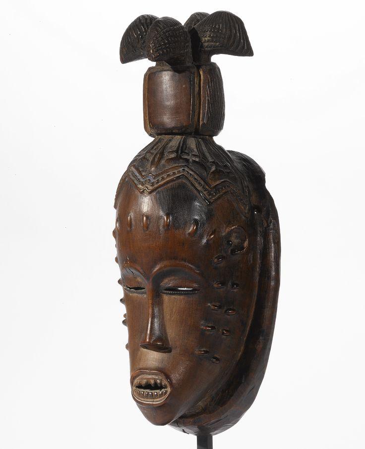 GURO MASK, IVORY COAST wood Height: 13 1/2 in (34.3 cm)
