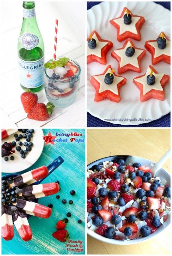 Healthy, festive 4th of July recipes! #USA