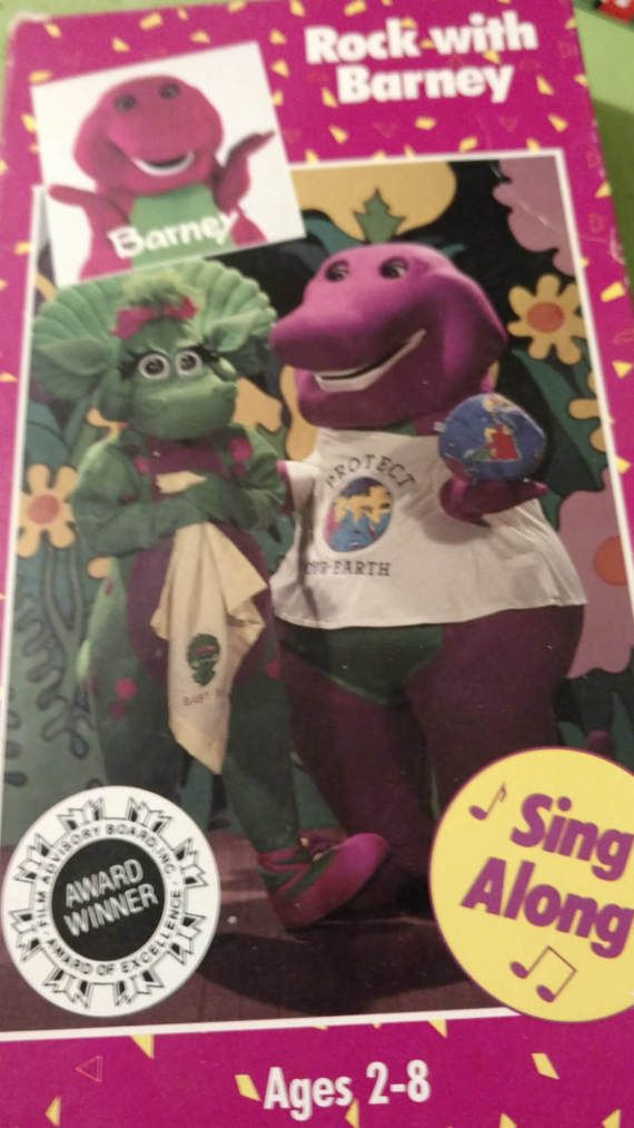 Vintage 1992 Barney The Dinosaur Rock With Barney Sing-a-long