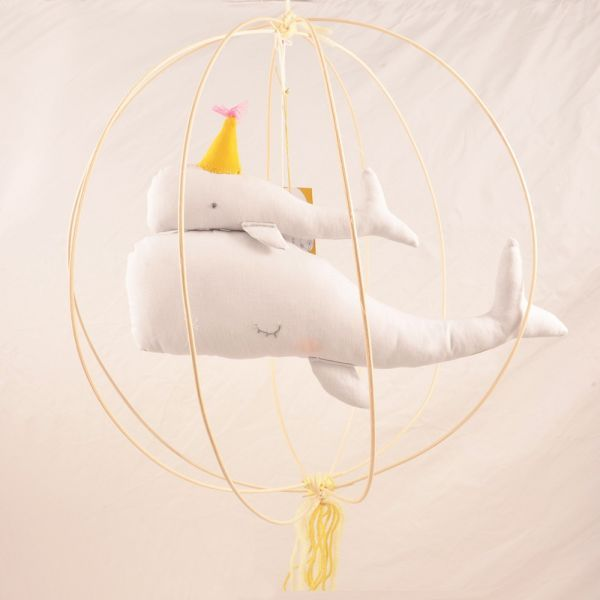 A delicate and original room mobile for a childrens bedroom or babies nursery