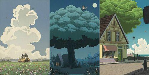 Studio Ghibli Film Posters Reimagined in Traditional Japanese Woodblock Printing