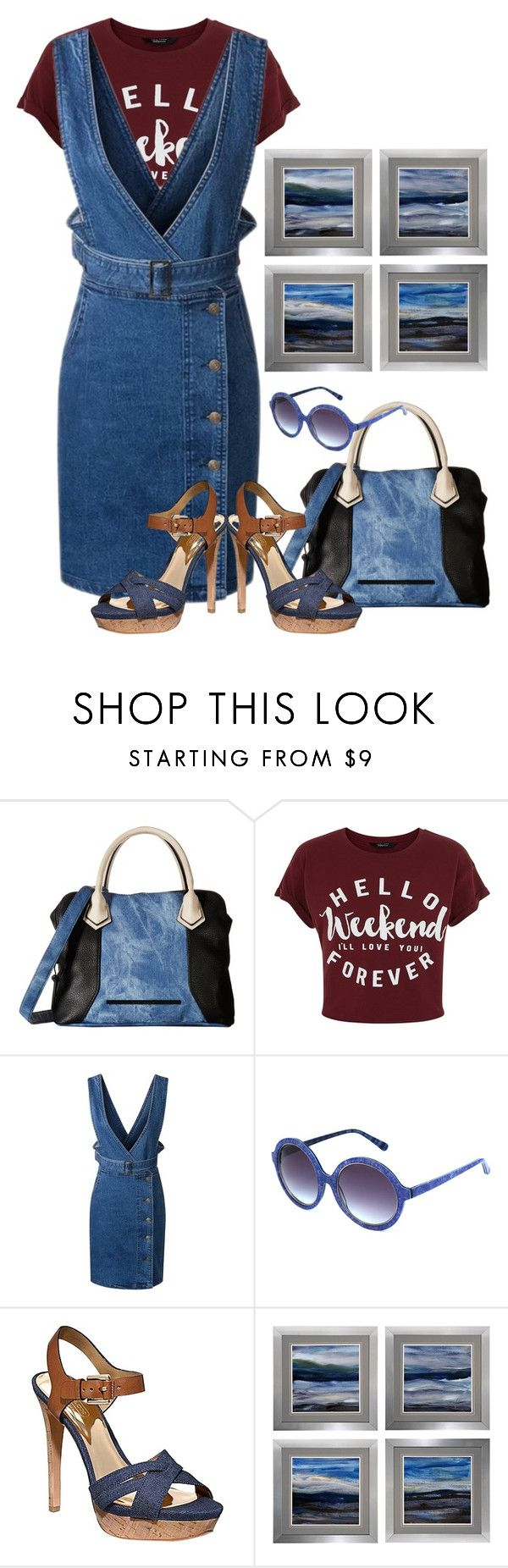 """""""Shirts with sayings."""" by nefertiti1373 ❤ liked on Polyvore featuring Steve Madden, Heidi London, Coach and Universal Lighting and Decor"""