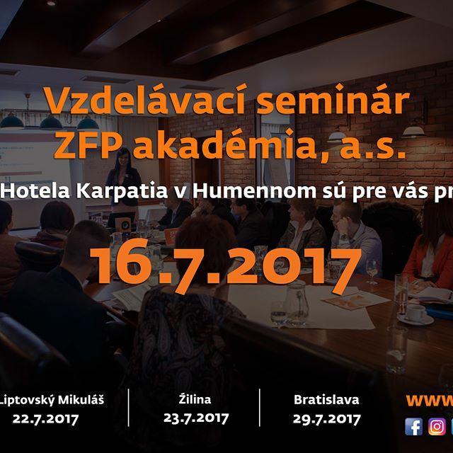 #ZFPA #akadémia #Karpatia #hotel #seminar #vzdelavanie #Humenné #group