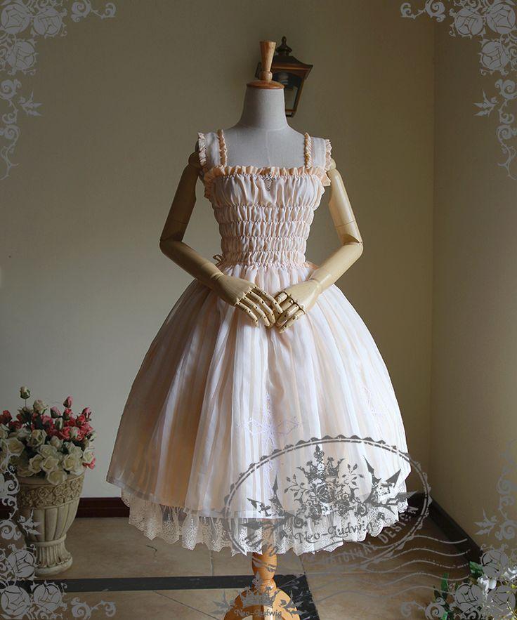 Gothic Midi Dress A Line Ball Dress One Piece Summer Dress Ivory
