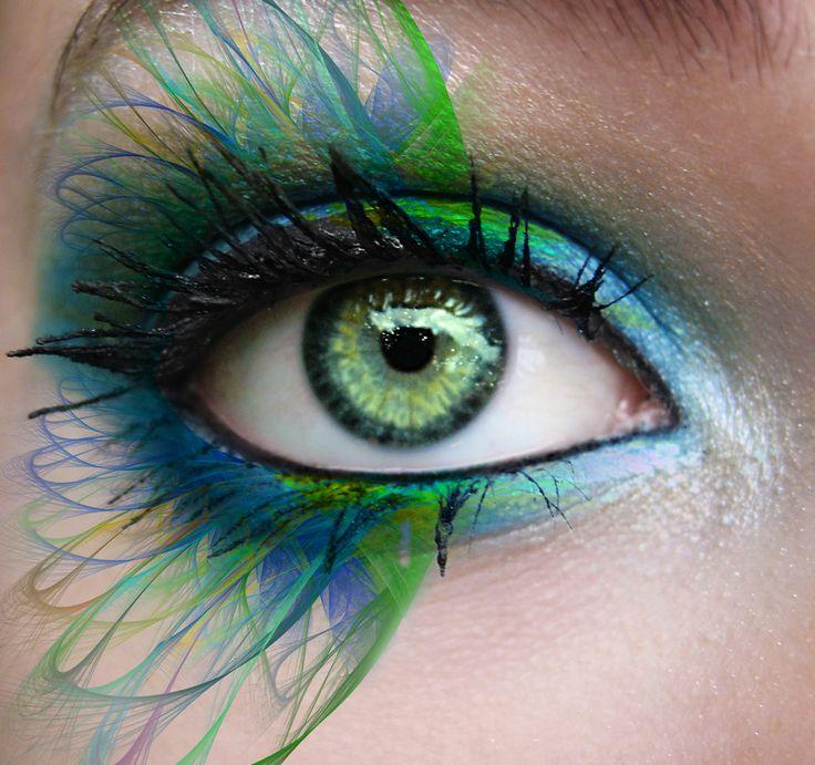 amazing makeup: Peacock Feathers, Eye Makeup, Eye Shadows, Blue Green, Makeup Art, Amazing Eye, Eye Make Up, Eyemakeup, Green Eye