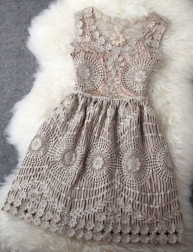 17 Best ideas about Crochet Lace Dress on Pinterest | Lace making ...
