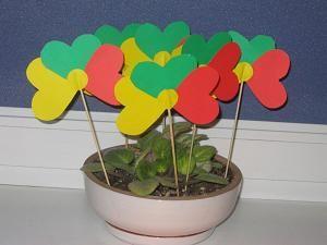 lithuanian flowers-kids craft