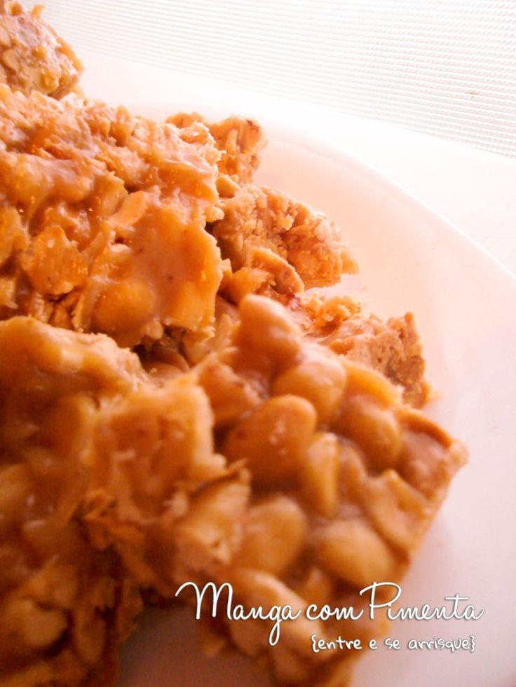 Pé de Moça, um doce de amendoim maravilhoso. Clique na imagem para ver a receita no Manga com Pimenta.
