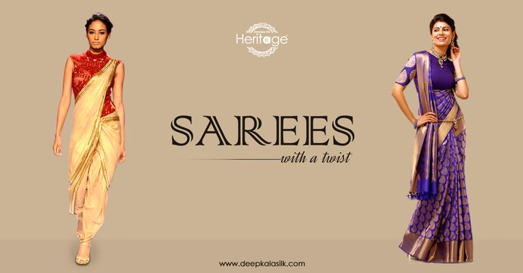 #Saree is an outfit that is sure to make you dazzle for any type of occasion. Try these two very innovative styles and you could be the limelight of the party! #deepkalasilk #sareedrapingstyles