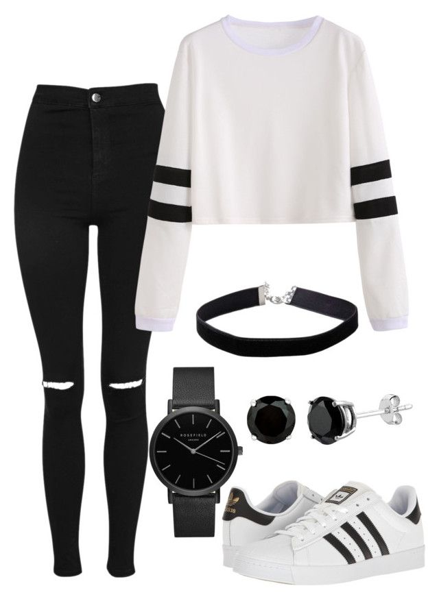 """Untitled #69"" by katiejoe on Polyvore featuring Topshop, adidas, Miss Selfridge and ROSEFIELD"