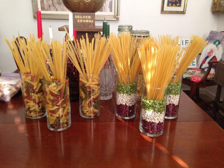 Italian pasta centerpieces