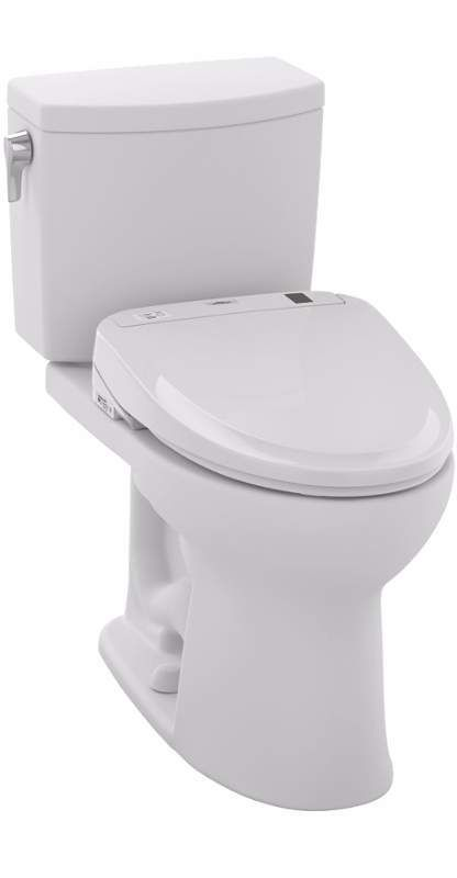 View the Toto MW454574CUFG Drake II 1 GPF Two-Piece Elongated Toilet - with SW574T20 Washlet at FaucetDirect.com.