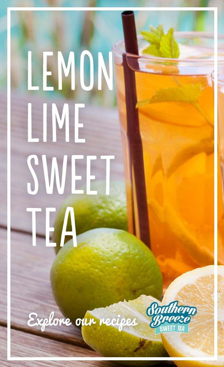 Add a refreshing lemon lime twist to our Sweet Tea.   1) Pour boiling water into a half-gallon pitcher over 2 Southern Breeze tea bags. Then steep for 10 minutes and discard the bags.      2) Add ½ cup lemon juice and ¼ cup lime juice.  3) Refrigerate until cold.        3) Serve over ice and garnish with fresh mint.