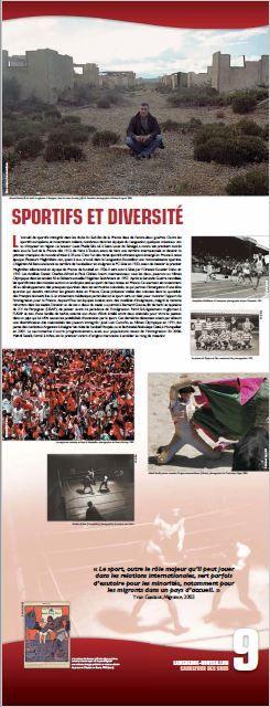 N°9 : Sportifs et diversité. L'accueil de sportifs immigrés dans les clubs du Sud-Est de la France date de l'entre-deux guerres. Outre les sportifs européens, et notamment italiens, nombreux dans les équipes du Languedoc, quelques coloniaux ont su s'imposer en région. © Groupe de recherche Achac