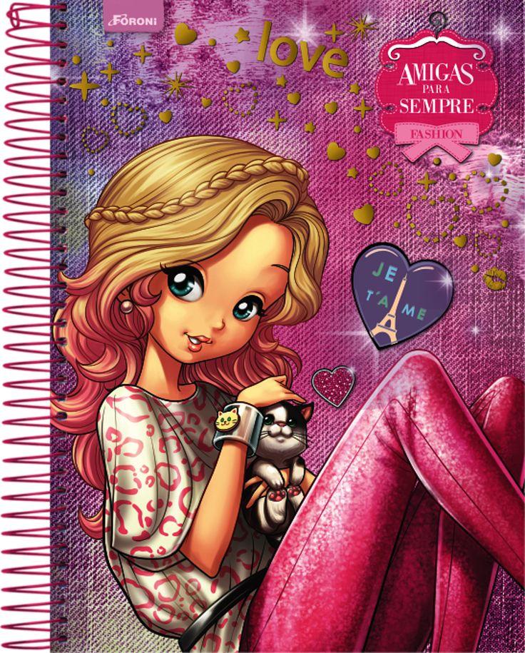 e caderno, da coleção Amigas para Sempre - Pesquisa Google