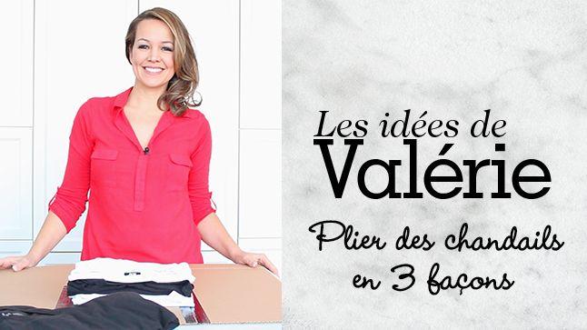 Valérie vous présente 3 trucs pour arriver à ranger les chandails et les t-shirts comme dans les magasins.