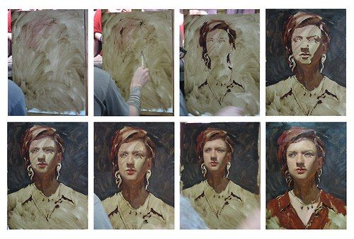 M1:: an oil or acrylic workflow showing a gimmick for keeping shadows looking…