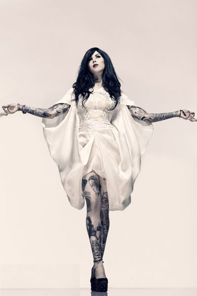 Tatted siren Katherine Von Drachenberg, aka Kat Von D, graced the cover of Inked Magazine accompanied by an interview and these stunning ...