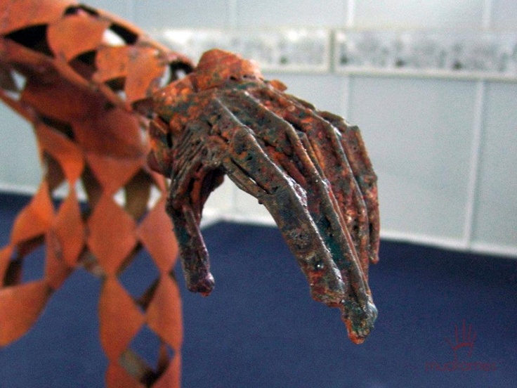 Arlechin - metal, h = 200cm,hand detail