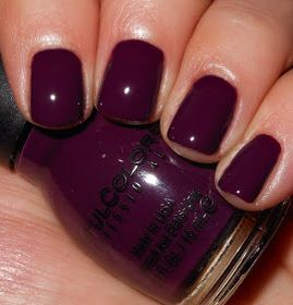 Sinful Colors High Spirits | Halloween 2015 Collection | Dark plum, purple, eggplant,  fall nails | Dupe for Orly Plum Noir