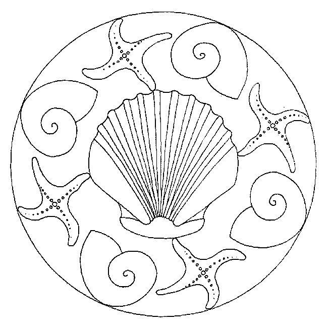 ocean mandalas coloring pages - photo #27