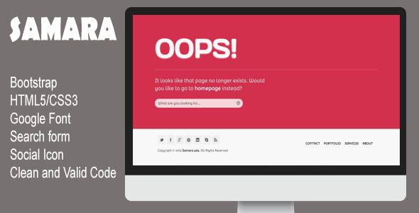 Shopping Samara - Responsive 404 Page online after you search a lot for where to buy