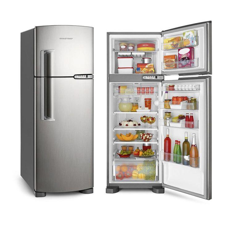 Geladeira/Refrigerador 2 Portas Brastemp Clean Frost Free 352L BRM39ER Inox -Eletrodomésticos - 2 Portas - Duplex - Walmart.com