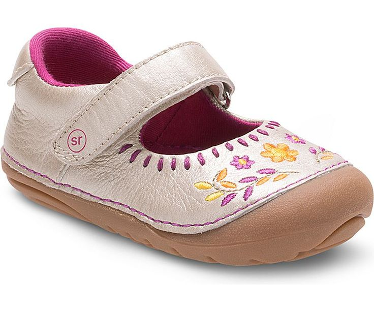 Image result for stride rite flower mary jane champagne
