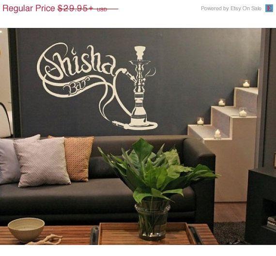 Shisha Bar deco wall decal, sticker, mural, vinyl wall art