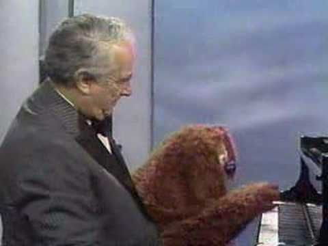 Victor Borge (my grandparents' favorite) playing piano with Rolf on the Muppet Show (my favorite).