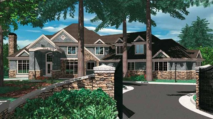 Craftsman House Plan With 5172 Square Feet And 5 Bedrooms