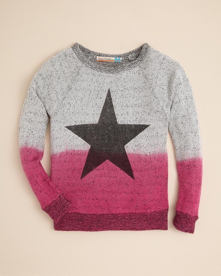 Vintage Havana Girls' Dip Dye Star Sweater
