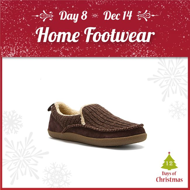 Need some warm slippers for indoors?   Step off the cold floor and into warm home footwear! Visit us in-store or get them in our webstore @ 20% OFF! http://kint.ec/Day8HomeFootwear  USE CODE: XMAS8