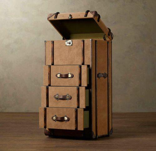 Tall Design: Richard's Trunk Furniture.