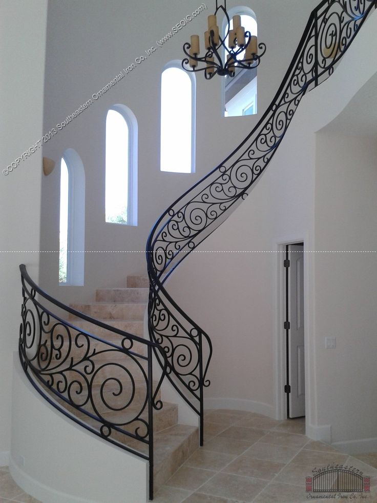 High Quality Wrought Iron Staircase Railings Ideas | ... Iron Stair Railing For Beauty  Interior Design