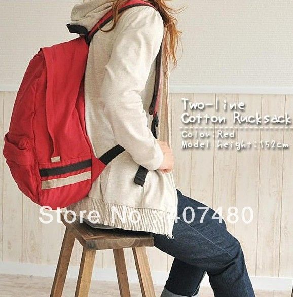 Fashion canvas sweet popular Women Lady girl's unisex men student   shoulder bag backpack leisure  CN post  $18.14